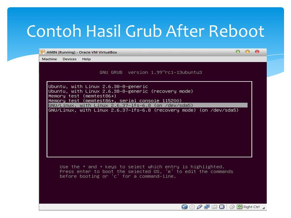 Contoh Hasil Grub After Reboot