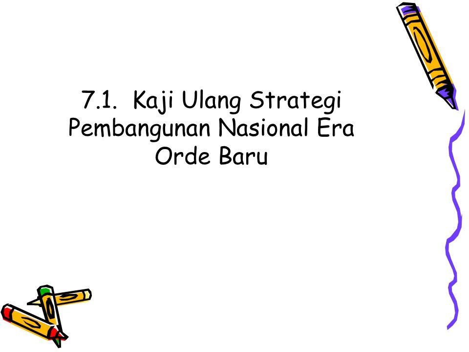 7.1. Kaji Ulang Strategi Pembangunan Nasional Era Orde Baru