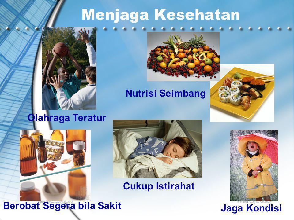Menjaga Kesehatan Olahraga Teratur Nutrisi Seimbang Cukup Istirahat Berobat Segera bila Sakit Jaga Kondisi