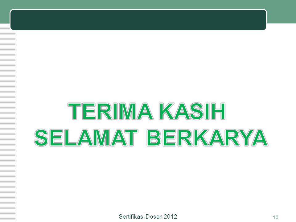 10 Sertifikasi Dosen 2012