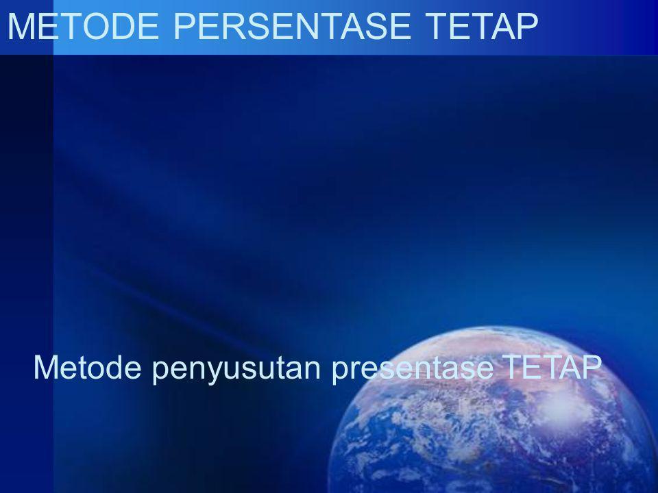 METODE PERSENTASE TETAP Metode penyusutan presentase TETAP