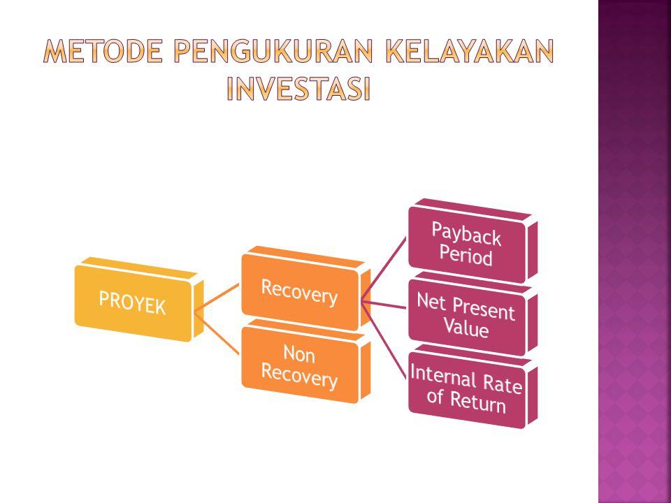 Memberikan kontribusi berupa net cashflow Net Cash Flow = Cash In – Cash Out Atau Net Cash Flow = EAT + Depresiasi