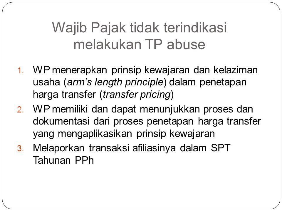 Kepentingan DJP Wajib Pajak tidak menggunakan Penetapan Harga Transfer (transfer pricing) sebagai sarana untuk menghindari pengenaan pajak di Indonesi