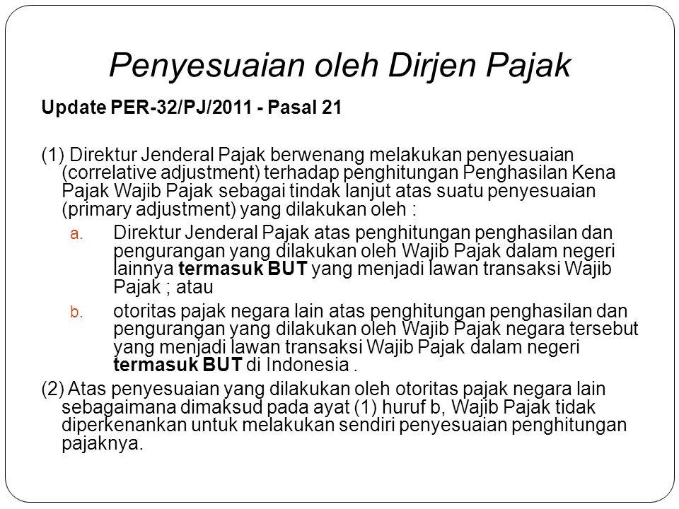 Pasal 20 ayat (4) Kewenangan Direktur Jenderal Pajak sebagaimana dimaksud pada ayat (1) tidak dilakukan apabila Wajib Pajak telah memenuhi Prinsip Kew