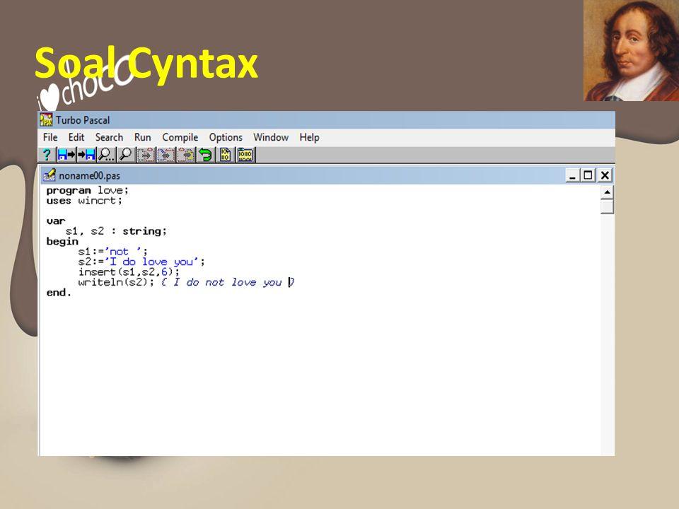 Soal Cyntax