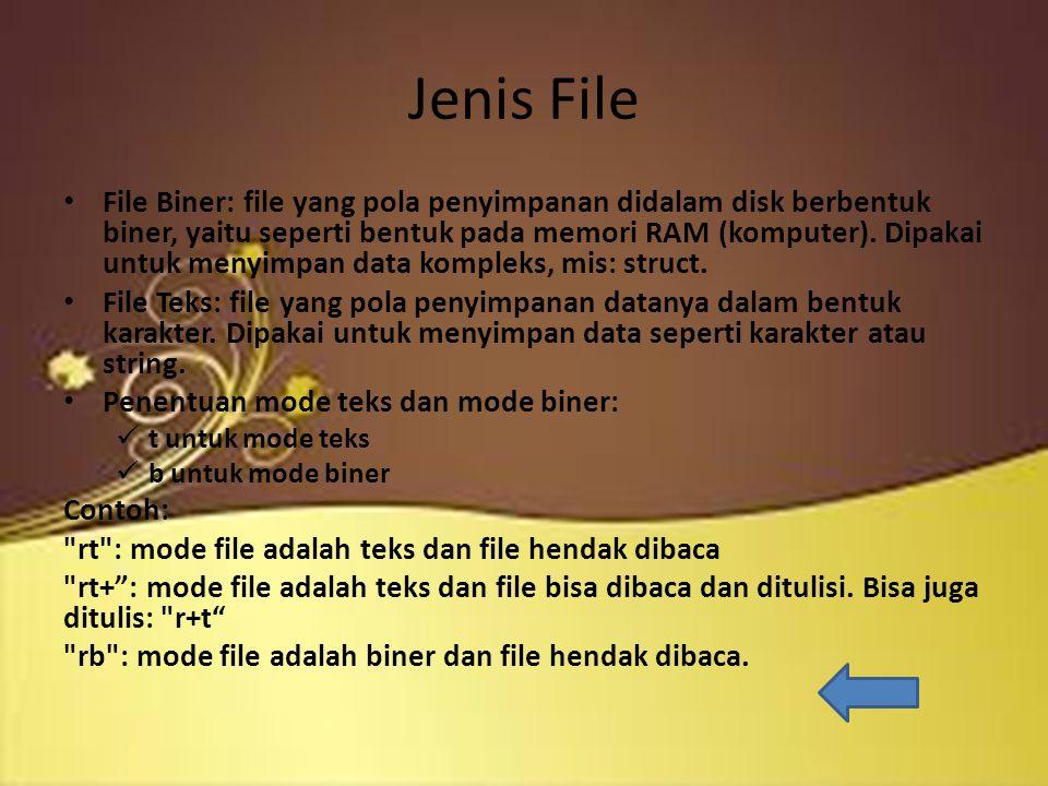 Tahapan Operasi File 1.Membuka/mengaktifkan file 2.