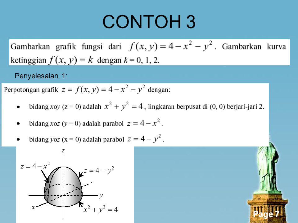 Page 7 CONTOH 3 Penyelesaian 1: