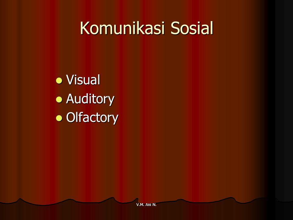 V.M. Ani N. Komunikasi Sosial Visual Visual Auditory Auditory Olfactory Olfactory