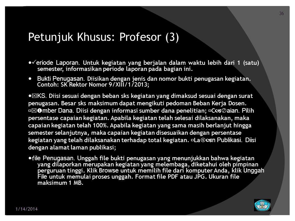 37 Petunjuk Khusus: Profesor (4) File Capaian.