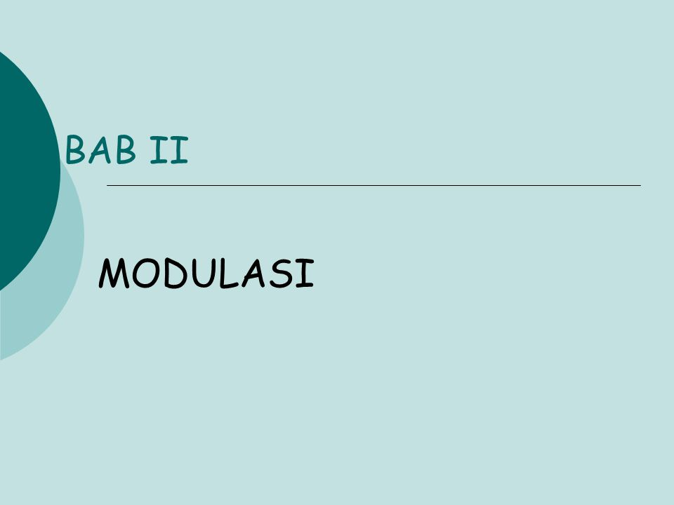BAB II MODULASI