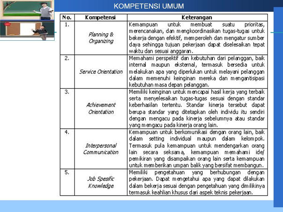 Company LOGO KOMPETENSI UMUM