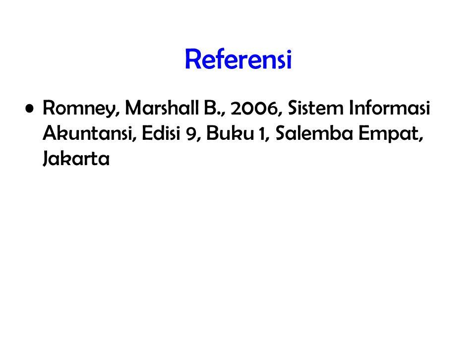 19/total Referensi Romney, Marshall B., 2006, Sistem Informasi Akuntansi, Edisi 9, Buku 1, Salemba Empat, Jakarta