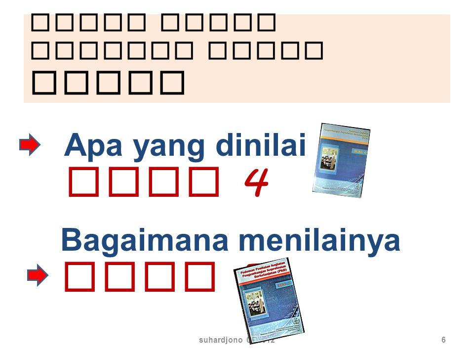 Untuk dapat menilai harus paham suhardjono 03 20126 Apa yang dinilai buku 4 Bagaimana menilainya Buku 5