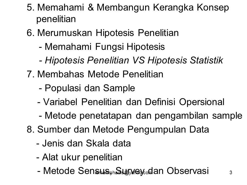 ismantohadis@yahoo.com83 DATA SEMUA INFORMASI  DATA POPULASI SAMPLE DATA POPULASI UNIT Individu / Kelompok / Organisasi Kasus / Kejadian / Peristiwa Waktu / Kecepatan / Sikap / Output