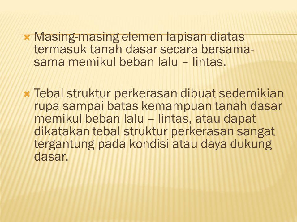  Umumnya persoalan yang menyangkut tanah dasar adalah sebagai berikut:  a.