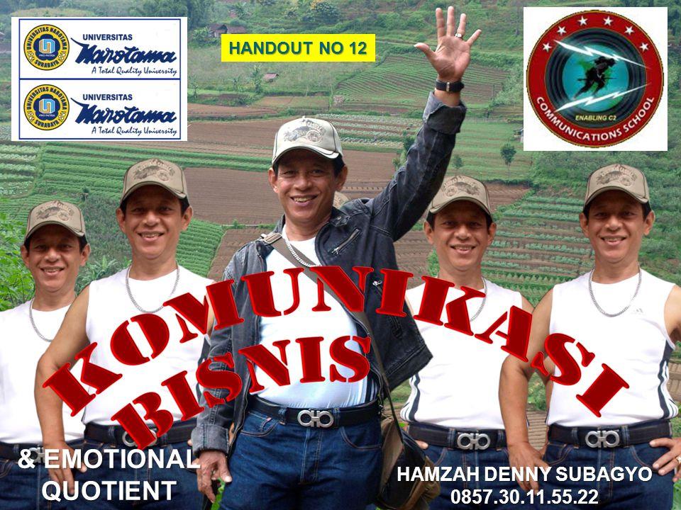 HANDOUT NO 12 HAMZAH DENNY SUBAGYO 0857.30.11.55.22 & EMOTIONAL QUOTIENT