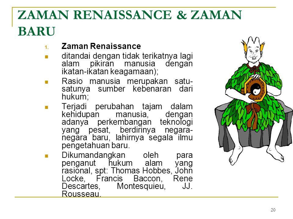 20 ZAMAN RENAISSANCE & ZAMAN BARU 1.