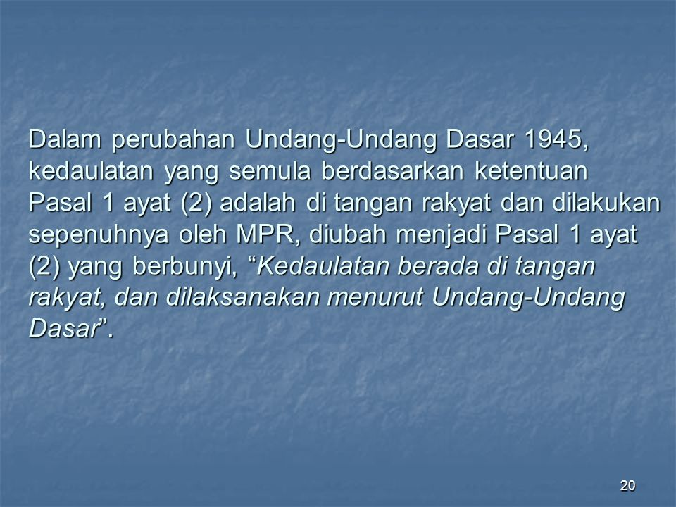 19 Negara Hukum Menurut International Commission of Jurists, Bangkok l965 : 1.