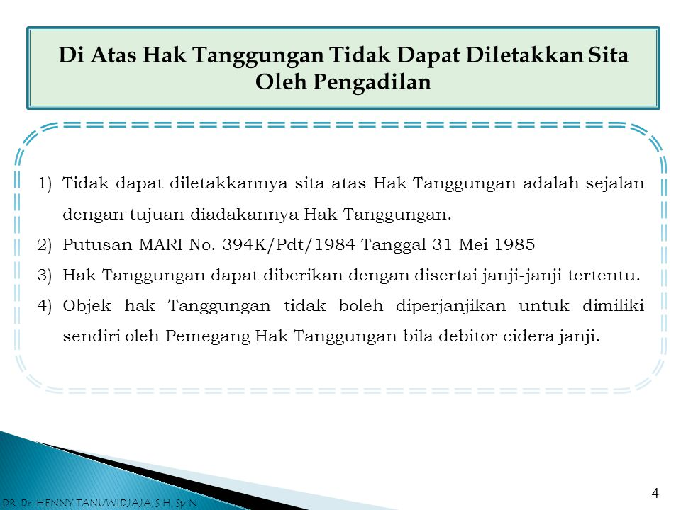"""Hak Tanggungan Dapat Menjamin Lebih Dari Satu Hutang Pasal 3 ayat (2) UUHT menentukan sebagai berikut : """" Hak Tanggungan dapat diberikan untuk suatu u"""