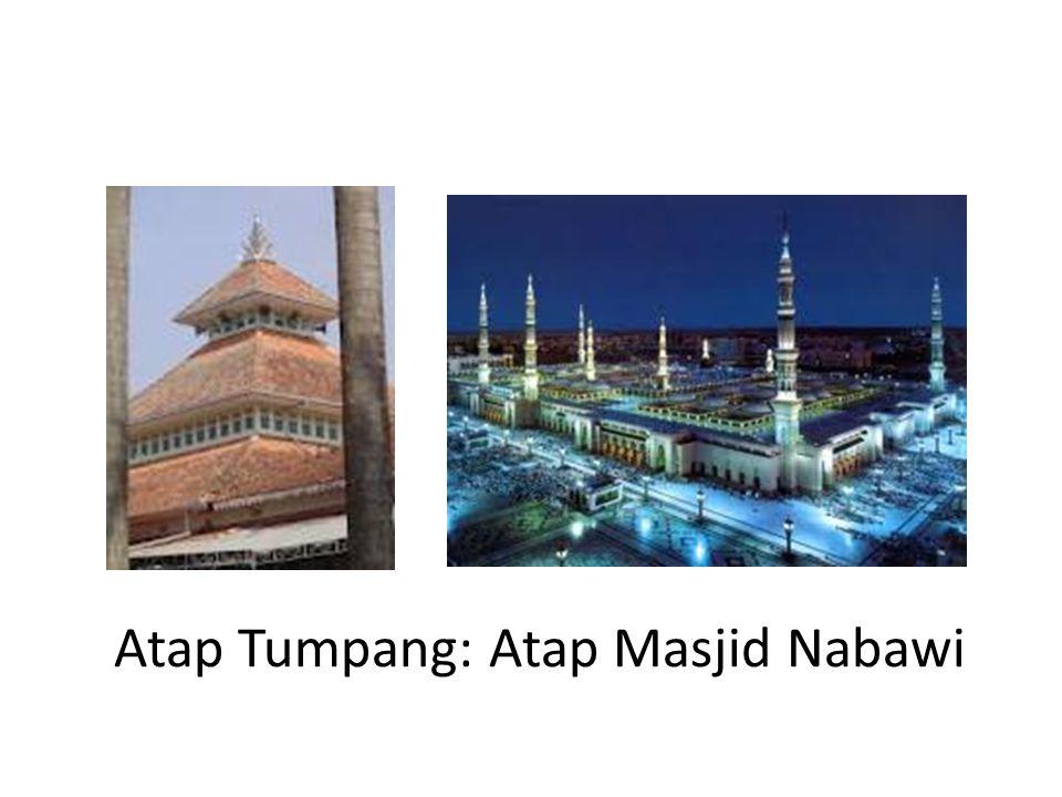 Atap Tumpang: Atap Masjid Nabawi