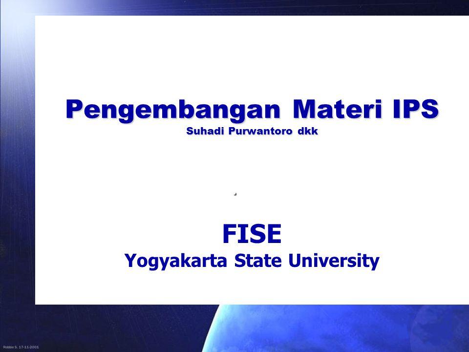 PENGANTAR  Materi IPS tematik dikembangkan berdasarkan Kurikulum IPS SMP  Kurikulum IPS SMP terdiri dari Standar kompetensi  Standar kompetensi terdiri beberapa kompetensi dasar