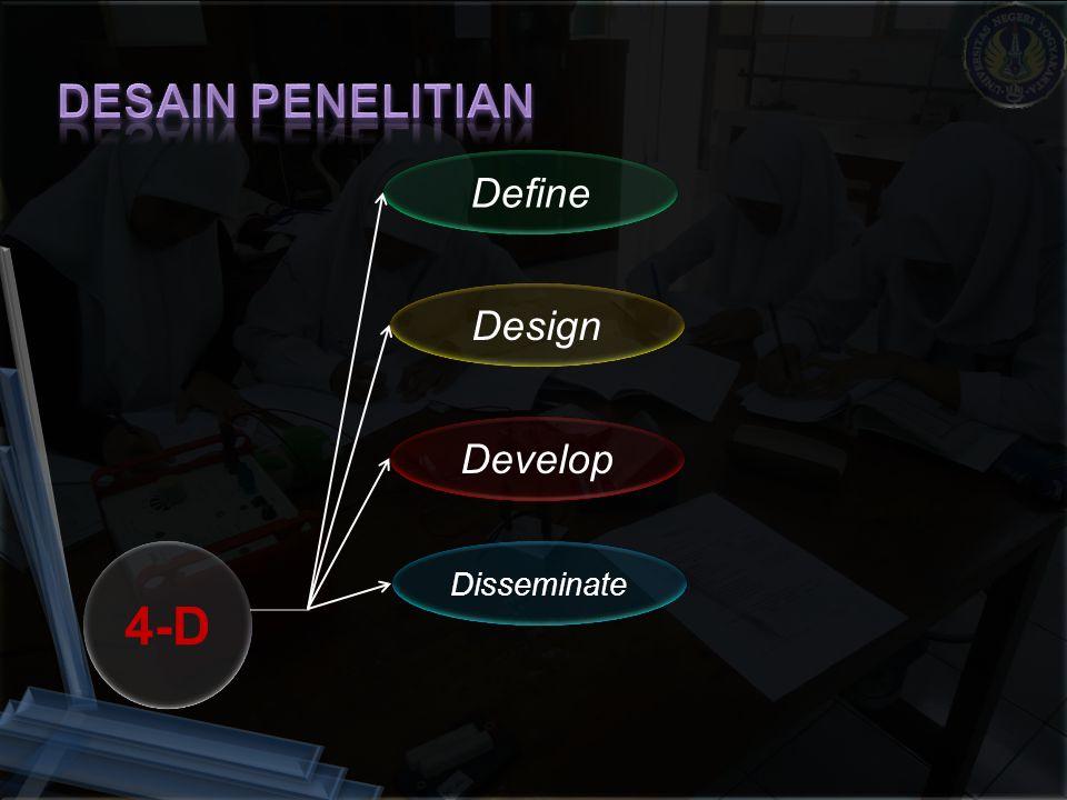 4-D Define Design Develop Disseminate