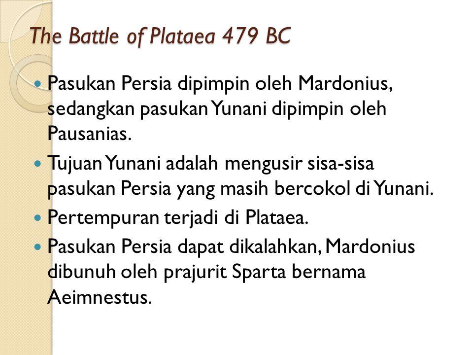The Battle of Salamis 480 BC Saat pasukan darat masuk Athena, sebagian besar pasukan laut memasuki Teluk Salamis.