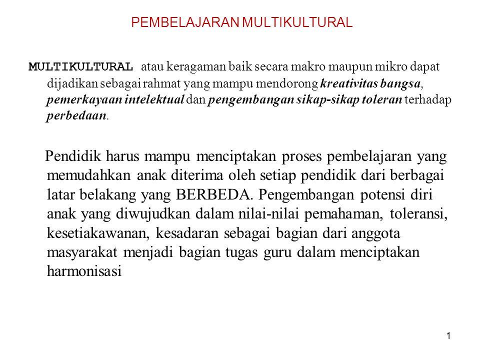 Pendidikan Multikultural pertemuan ke 2 S.Wisni Septiarti,M.Si Dosen Jurusan Pendidikan Luar Sekolah Fakultas Ilmu Pendidikan Universitas Negeri Yogyakarta 2