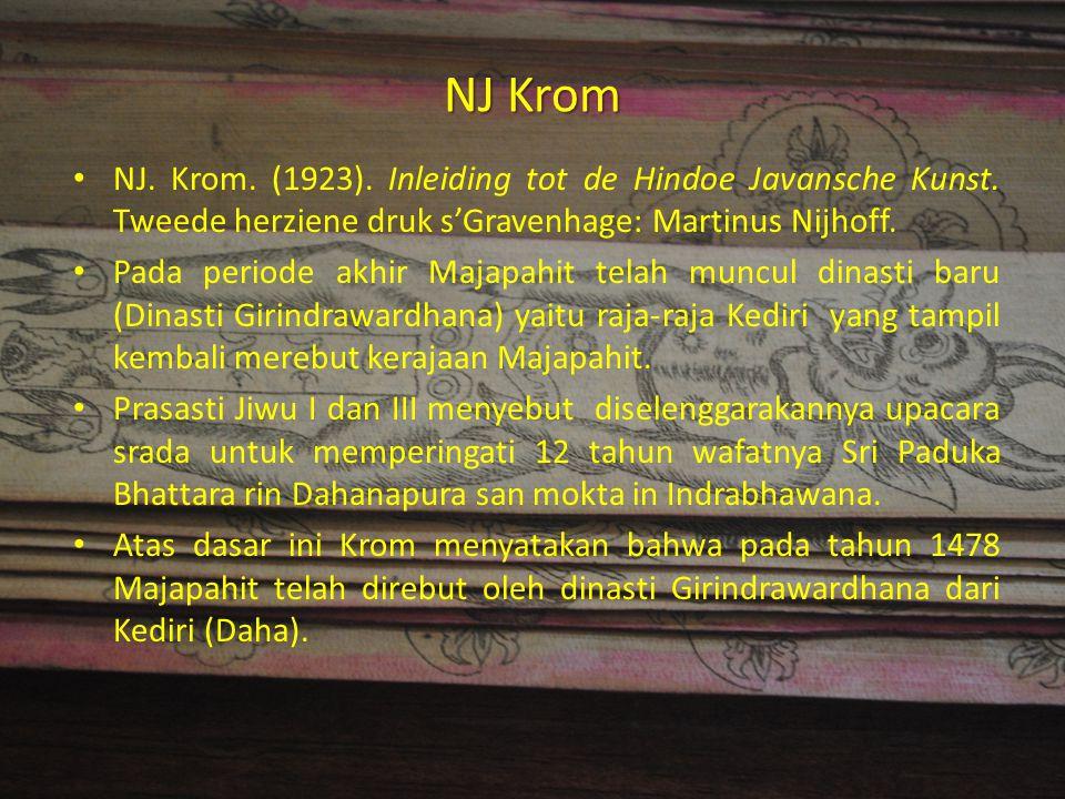NJ Krom NJ. Krom. (1923). Inleiding tot de Hindoe Javansche Kunst. Tweede herziene druk s'Gravenhage: Martinus Nijhoff. Pada periode akhir Majapahit t