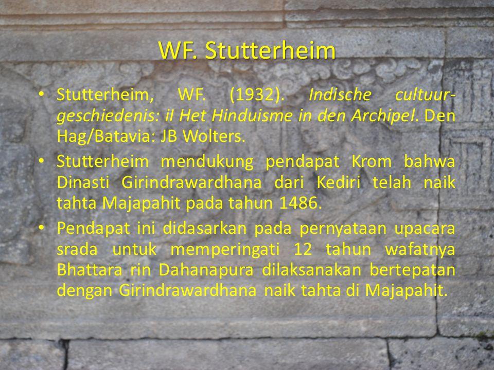 WF. Stutterheim Stutterheim, WF. (1932). Indische cultuur- geschiedenis: iI Het Hinduisme in den Archipel. Den Hag/Batavia: JB Wolters. Stutterheim me