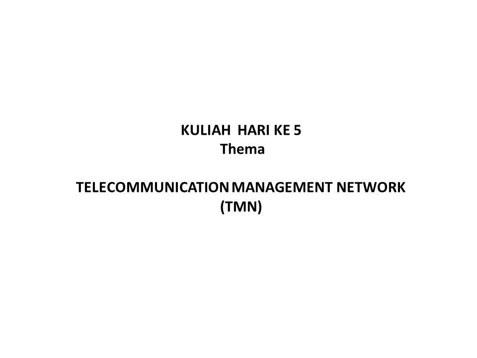 KULIAH HARI KE 5 Thema TELECOMMUNICATION MANAGEMENT NETWORK (TMN)