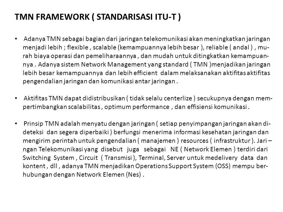 Adanya TMN sebagai bagian dari jaringan telekomunikasi akan meningkatkan jaringan menjadi lebih ; flexible, scalable (kemampuannya lebih besar ), reli