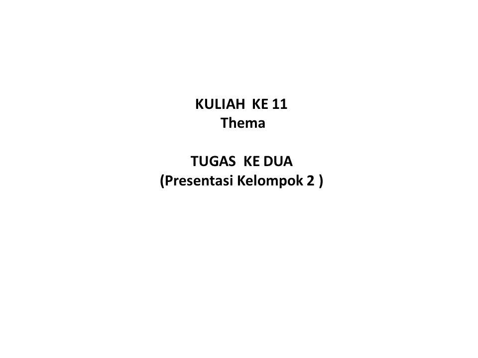 KULIAH KE 11 Thema TUGAS KE DUA (Presentasi Kelompok 2 )