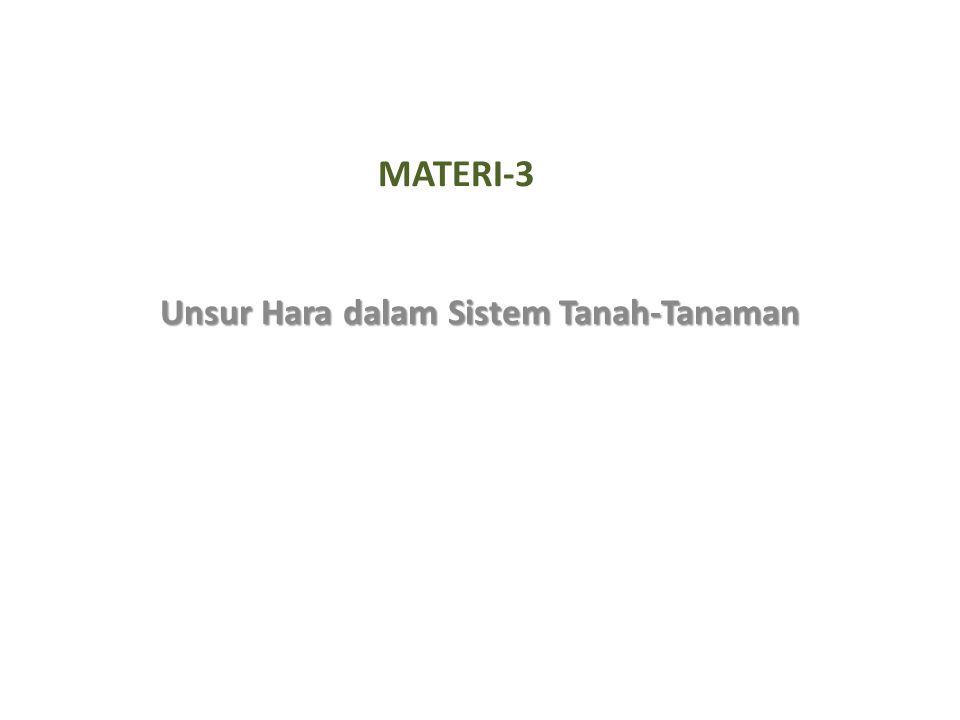 MATERI-3 Unsur Hara dalam Sistem Tanah-Tanaman
