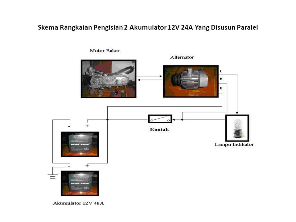 Skema Rangkaian Pengisian 2 Akumulator 12V 24A Yang Disusun Paralel