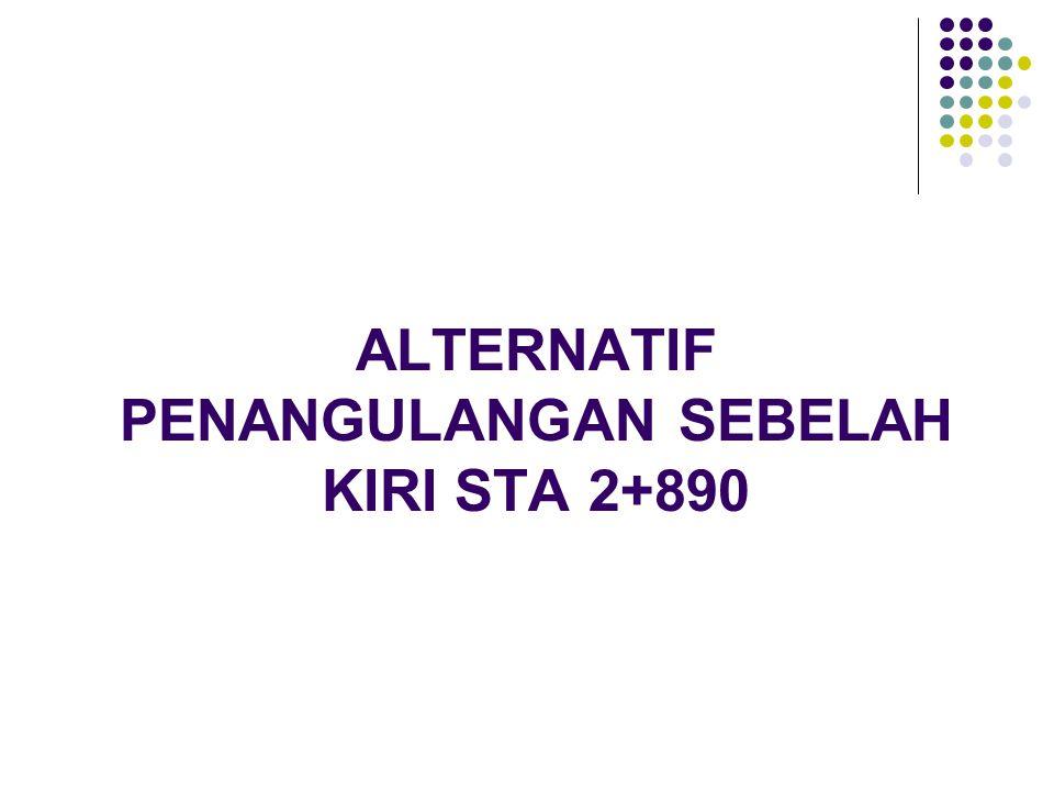 ALTERNATIF PENANGULANGAN SEBELAH KIRI STA 2+890