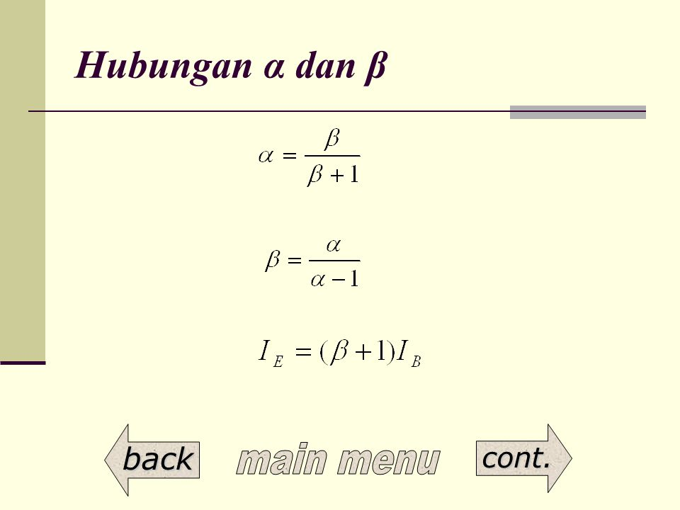 Hubungan α dan β back cont.