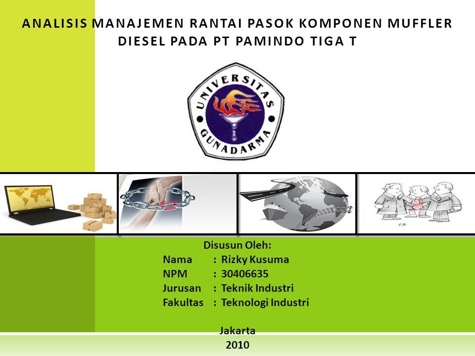 Disusun Oleh: Nama: Rizky Kusuma NPM: 30406635 Jurusan: Teknik Industri Fakultas: Teknologi Industri Jakarta 2010 ANALISIS MANAJEMEN RANTAI PASOK KOMP