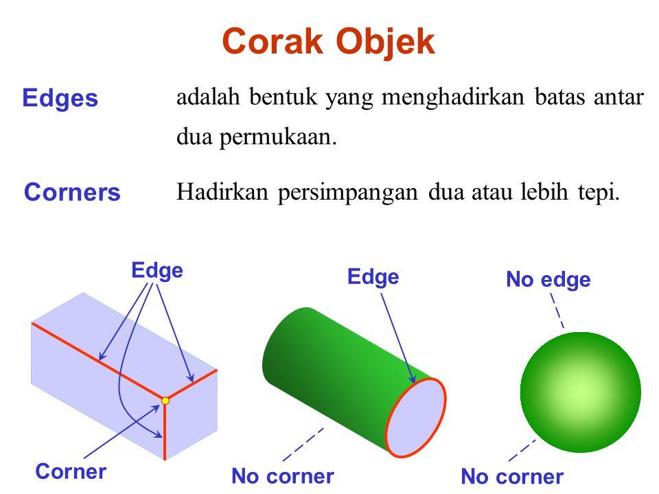 Corak Objek Edges adalah bentuk yang menghadirkan batas antar dua permukaan.