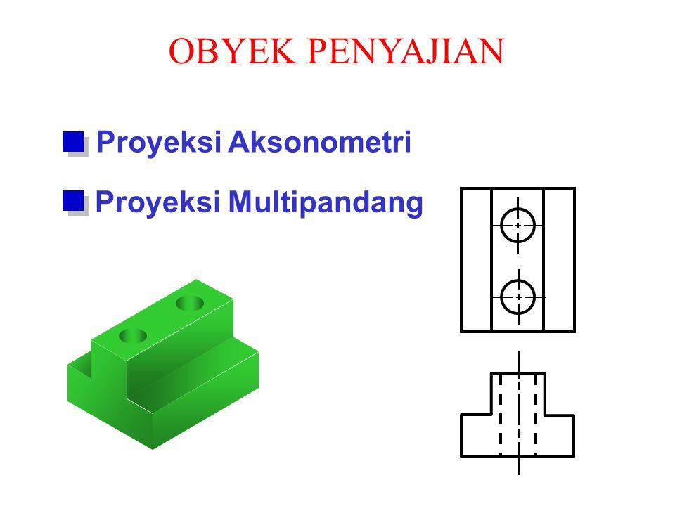 OBYEK PENYAJIAN Proyeksi Aksonometri Proyeksi Multipandang