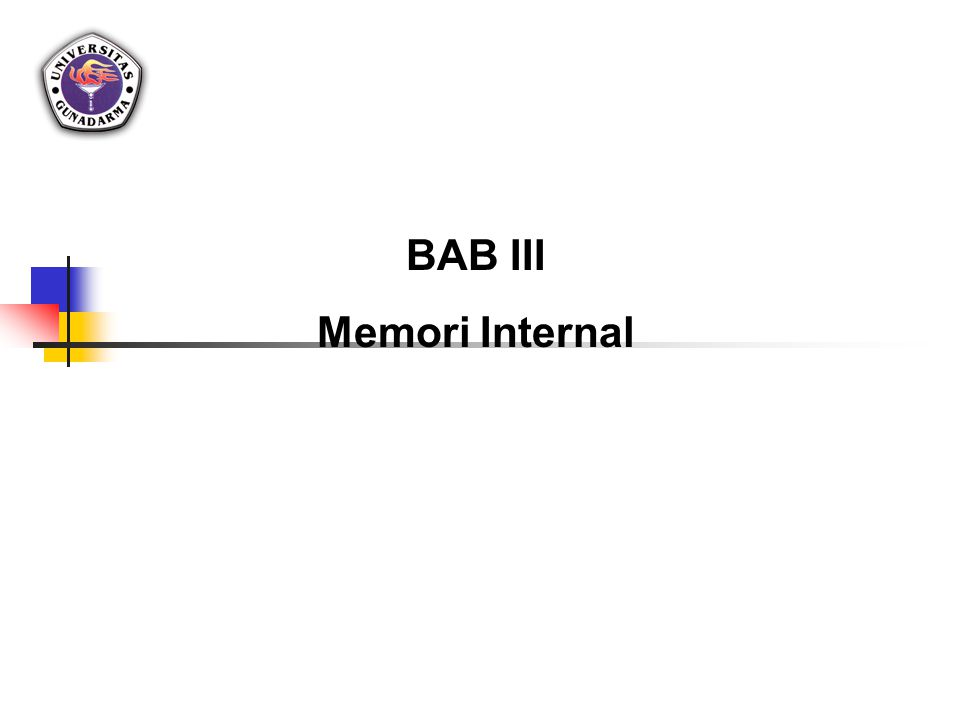 BAB III Memori Internal