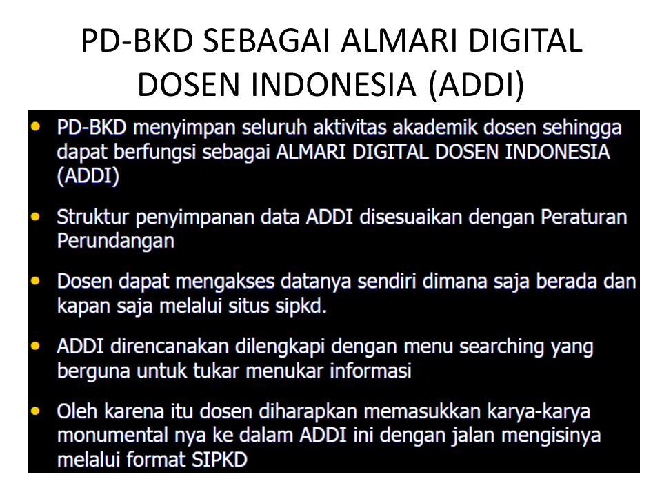 PD-BKD SEBAGAI ALMARI DIGITAL DOSEN INDONESIA (ADDI)