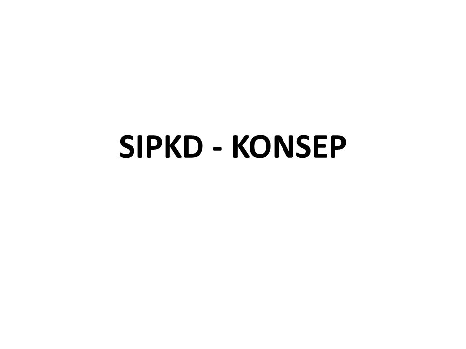 SIPKD - KONSEP