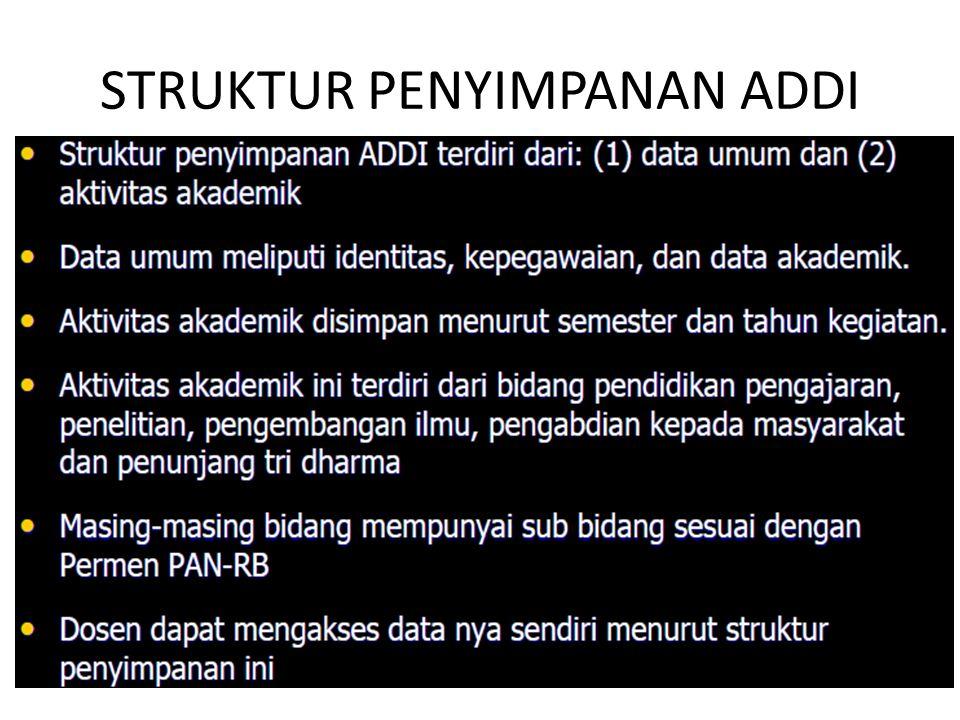 STRUKTUR PENYIMPANAN ADDI