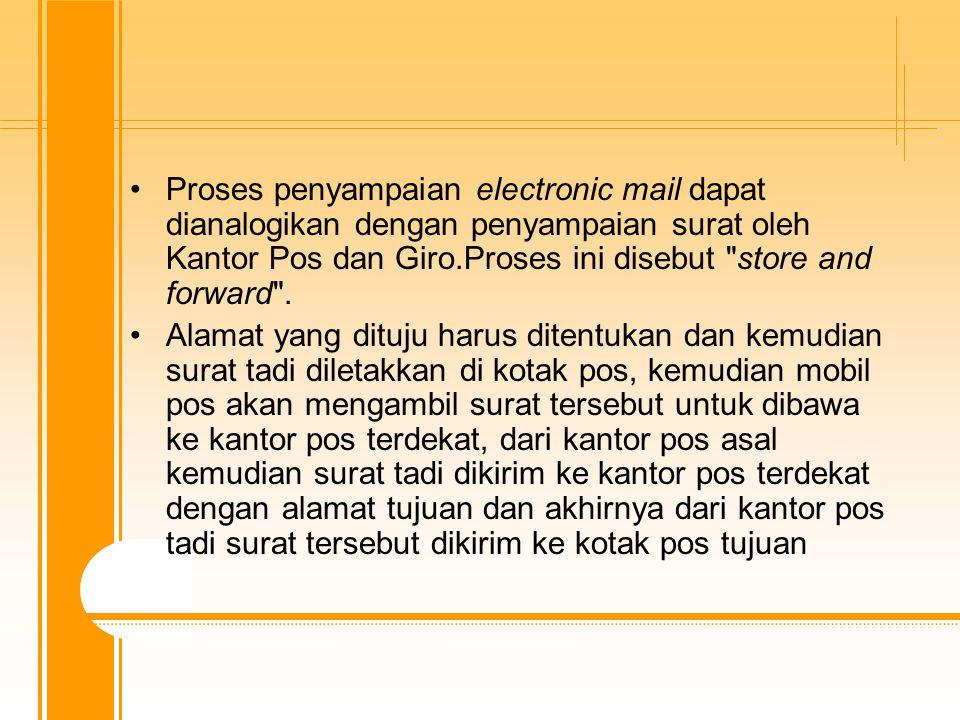 Mail akan dikirim dengan menggunakan protocol-protocol tertentu.