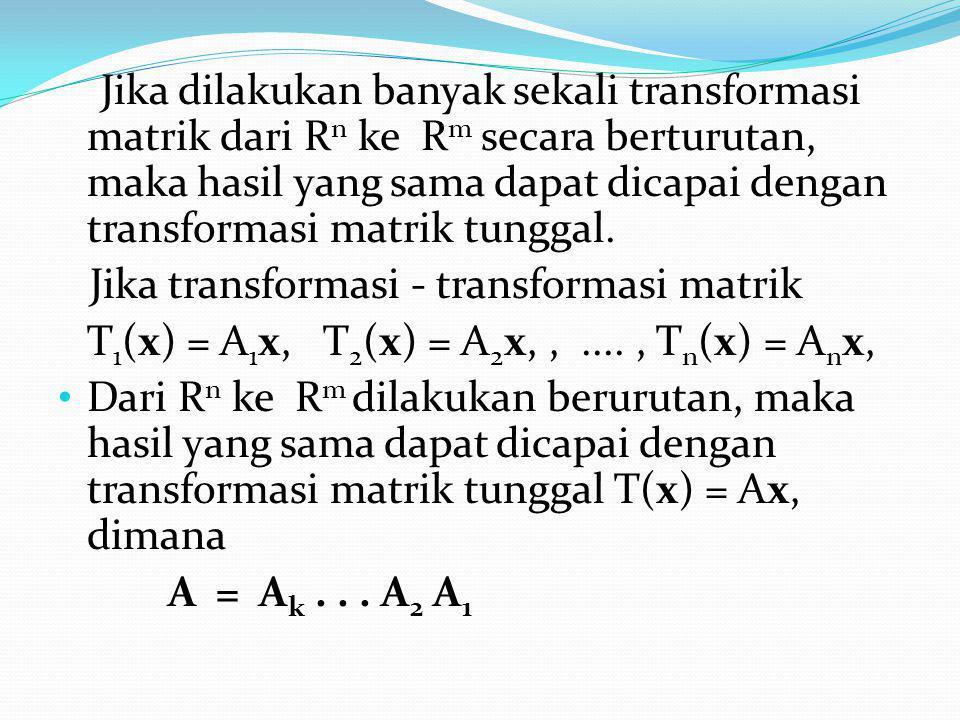 Sebuah geseran dalam arah y dengan faktor k adalah transformasi yang menggerakkan masing – masing titik (x,y) sejajar dengan sumbu y sebanyak kx menuju kedudukan yang baru (x, y + kx) Matrik baku untuk transformasi ini adalah :