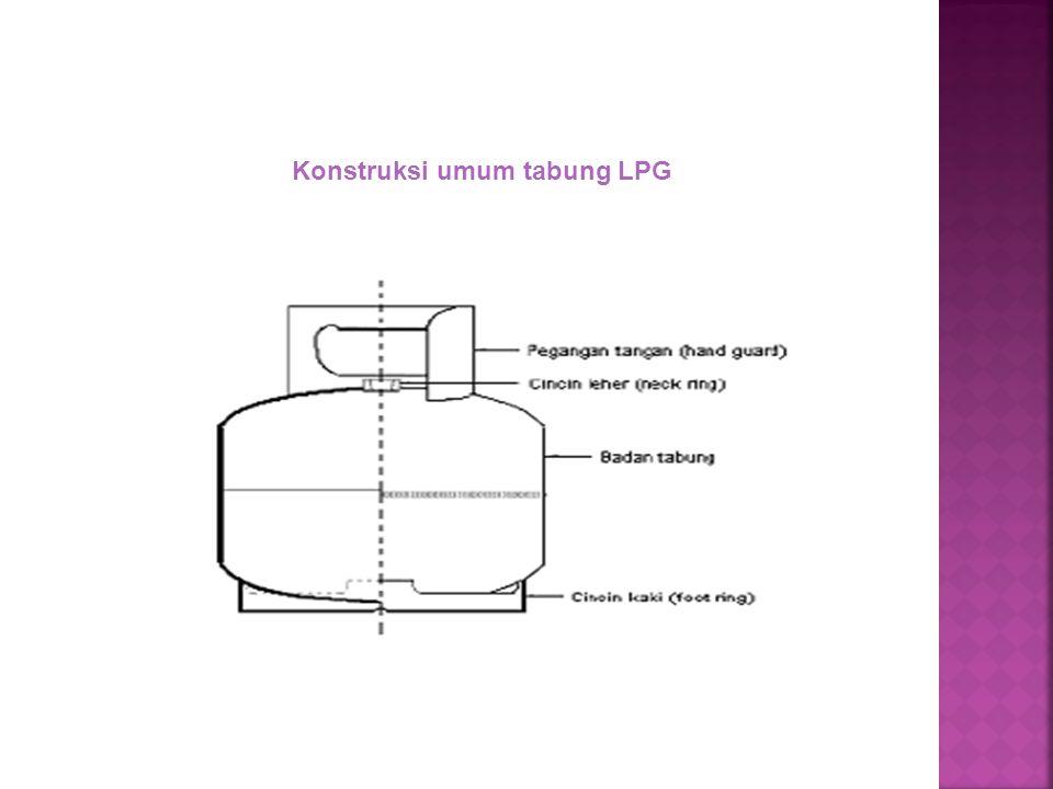 Konstruksi umum tabung LPG