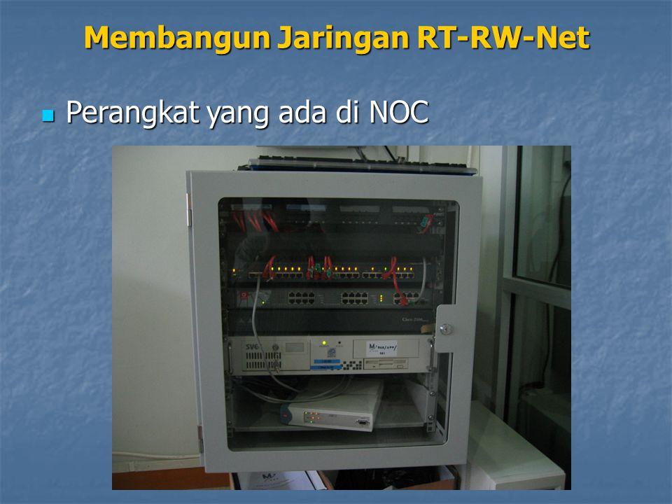Membangun Jaringan RT-RW-Net Perangkat yang ada di NOC Perangkat yang ada di NOC