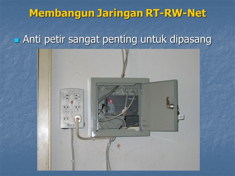 Membangun Jaringan RT-RW-Net Anti petir sangat penting untuk dipasang Anti petir sangat penting untuk dipasang