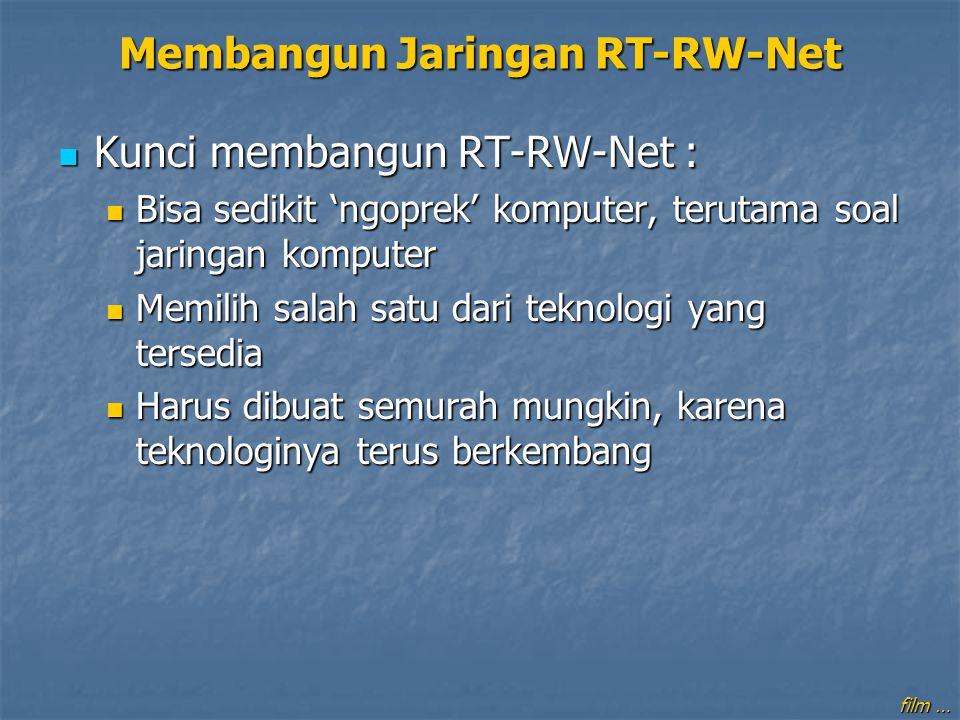 Kunci membangun RT-RW-Net : Kunci membangun RT-RW-Net : Bisa sedikit 'ngoprek' komputer, terutama soal jaringan komputer Bisa sedikit 'ngoprek' komput